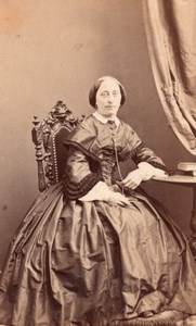 France French Fashion Second Empire old CDV Photo 1860'