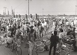 Bordeaux Anti Pollution Demonstration old Photo 1972