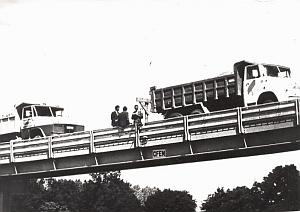Rennes new bridge Toboggan Chalandon old Photo 1970