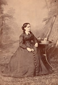 France Marseille Woman Fashion Costume Cayol Cabinet Card Photo CC 1875
