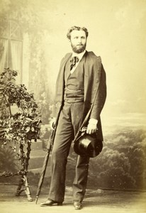France Paris Actor Theatre Henry Daral Old Photo 1865