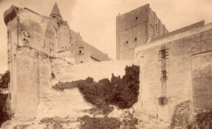 France Loches Castle Louis XI Tower old Neurdein Cabinet Card Photo CC 1890