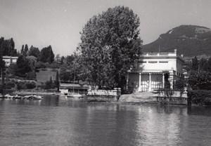 Switzerland Geneva Lake border old Photo 1950'