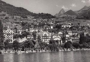 Switzerland Geneva Lake houses old Photo 1950'