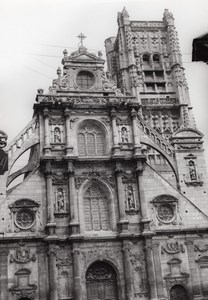 France Auxerre Eglise St Pierre Architecture Photo 1950