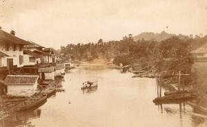 Borneo Island Samarinda Mahakam River old Photo 1920'