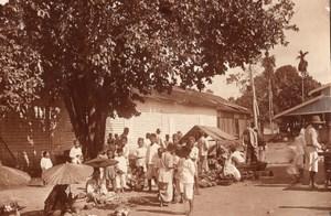 Borneo Island Samarinda Street Market old Photo 1920