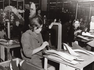 Belgium Quaregnon Textile Women Workers Occupational old Photo 1963