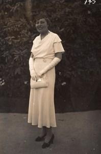 Auteuil Horse Race-Course Women Fashion Elegant Lady Photo 1920