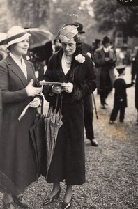 Auteuil Horse Race-Course Top Fashion Lady Photo 1920'