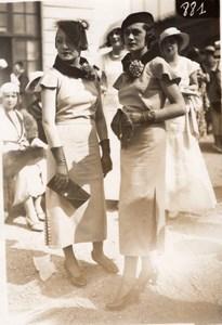 Auteuil Horse Race-Course Top Fashion Lady Photo 1920'