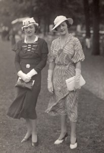 Auteuil Horse Race-Course Women Fashion Elegant Lady Photo 1920
