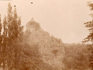 Paris Buttes Chaumont Belvedere old snapshot Photo 1899
