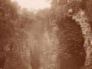 Paris Buttes Chaumont Grotte old snapshot Photo 1899