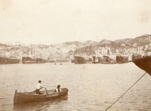 Italy Genoa Harbour Panorama old snapshot Photo 1899