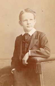 Boy Rendall Family Oxford old CDV Forshaw Photo 1875