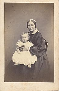 Mother & Child Rendall Family CDV Kilburn Photo 1865'