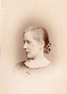Woman Rendall Family London old CDV Window Photo 1870'