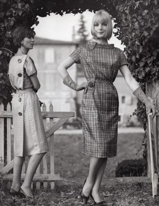 French Woman Fashion Model Murado Billet old Photo 1960'