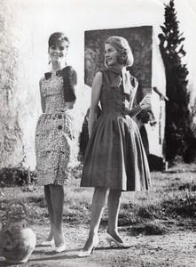 French Woman Fashion Model Vallauris Paris Photo 1960'
