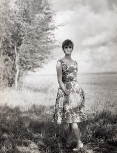 French Woman Fashion Model P Billet old Astre Photo 1960