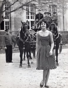 French Woman Fashion Model Joppy old Astre Photo 1960