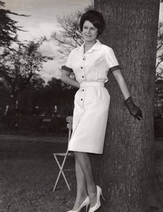 French Woman Fashion Model Joppy old Photo 1960