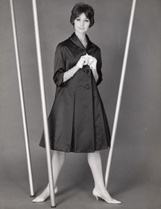 French Woman Fashion Model old Photo 1960