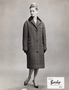 French Woman Fashion Model Barly old Photo 1960
