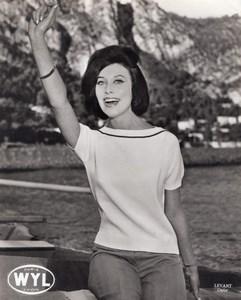 French Woman Fashion Model Wyl Paris old Photo 1960