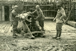 Meuse Front Military Gun World War WWI old Photo 1917