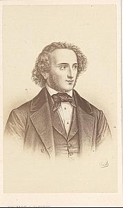 Mendelssohn German Composer Music old CDV Photo 1870'