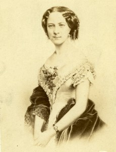 Princesse de Galles France old CDV Jacotin 1860'
