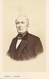 Poet Alphonse de Lamartine France old CDV Jacotin 1860'