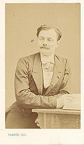 Minister Baron David Jerome old Franck CDV Photo 1865'