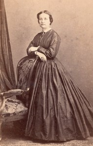 Comtesse Pauline de Noailles France old CDV Photo 1865'