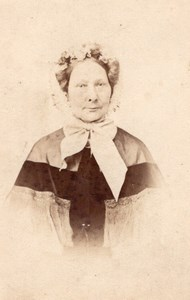 Old Lady Personality Royalty Belgium old CDV Photo 1865