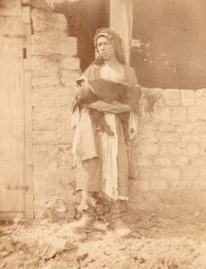 Lebanese Shepherd Syria old Lallemand & Hart Photo 1865