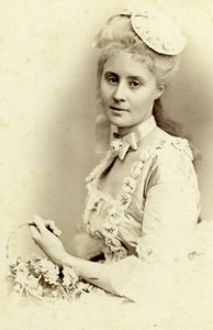 Countess of Falbe Wien Society Old Atelier Adele Cabinet Card Photo CC 1869