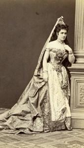 Princesse de Furstenberg Viennna Old Atelier Adele Cabinet Card Photo CC 1869