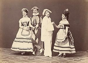 Pantomime Show Actors Stage Wien Old Adèle Photo 1869