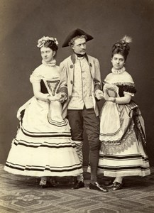 Pantomime Show Actors Stage Wien Old Adle Photo 1869