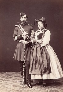 Baron Bourgoing & Treumann Wien Old Atelier Adele Cabinet Card Photo CC 1869