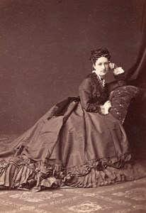 Princess of Scylla Fashion Wien Old Atelier Adele Cabinet Card Photo CC 1869