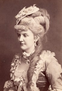 Countess Anna Walkenstein Wien Old Atelier Adele Cabinet Card Photo CC 1869