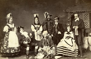 Austria Aristocracy Stage Play old Atelier Adele Cabinet Card Photo CC 1869