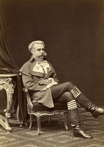Baron de Bourgoing Costume Wien Old Atelier Adele Cabinet Card Photo CC 1869