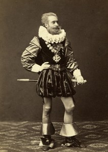 Marquis de Vaugelas in Costume Wien Old Atelier Adele Cabinet Card Photo CC 1869