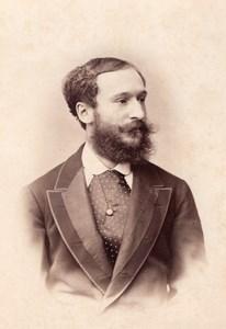 Marquis de Vaugelas Wien Old Atelier Adele Cabinet Card Photo CC 1869