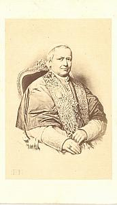 Pope Pie IX old Dusacq & cie CDV Photo 1865'